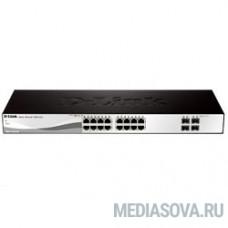 D-Link DGS-1210-20/ME/B1A Управляемый коммутатор 2 уровня с 16 портами 10/100/1000Base-T и 4 портами 1000Base-X SFP