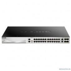 D-Link DGS-3130-30TS/A1A PROJ Управляемый стекируемый1 коммутатор 3 уровня с 24 портами 10/100/1000Base-T, 2 портами 10GBase-T и 4 портами 10GBase-X SFP+