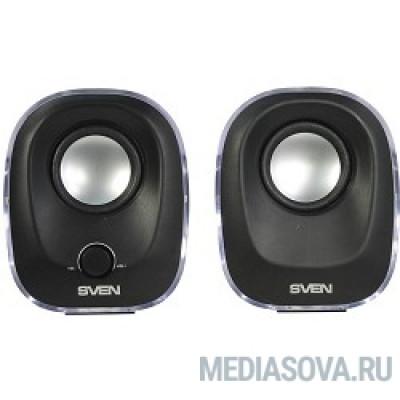 SVEN 330, чёрный (5 Вт, питание USB, подсветка)