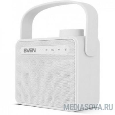 SVEN PS-72,  белый  (6  Вт, Bluetooth, FM, USB, microSD, ручка )
