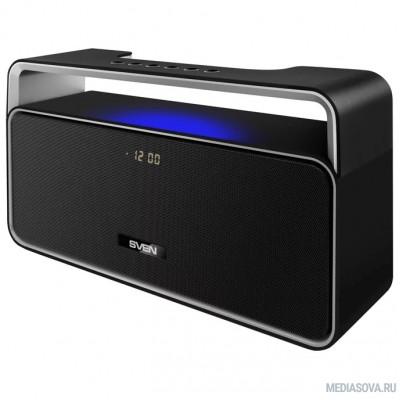 SVEN PS-185, черный (10 Вт, Bluetooth, FM, USB, microSD, LED-дисплей, часы, 2000мА*ч )