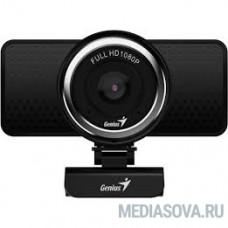 Genius ECam 8000 Black 1080p Full HD, вращается на 360°, универсальное крепление, микрофон, USB [32200001400]