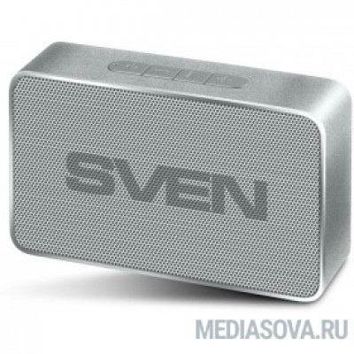 SVEN PS-85, серебро (5 Вт, Bluetooth, FM, USB, microSD, 600мА*ч)