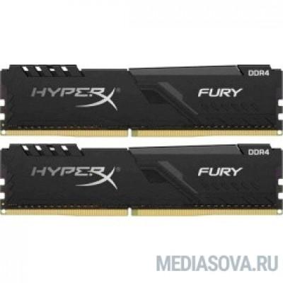 Оперативная память  Kingston DDR4 DIMM 64GB Kit 2x32Gb HX432C16FB3K2/64 PC4-25600, 3200MHz, CL16, HyperX Fury