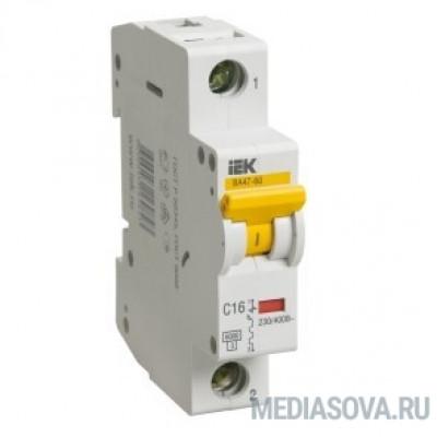 Iek MVA41-1-025-B Авт.выкл. ВА 47-60 1Р 25А 6 кА  х-ка B IEK