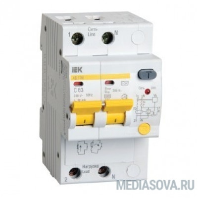 Iek MAD12-2-020-C-030 Диф.автомат АД12М 2Р С20  30мА ИЭК