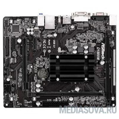 Материнская плата ASROCK D1800M RTL J1800, DDR3, PCI-E, 5.1ch Audio, SATAII, GBL, D-Sub, DVI, HDMI, mATX