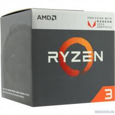 CPU AMD Ryzen 3 2200G BOX 3.5-3.7GHz, 4MB, 65W, AM4, RX Vega Graphics