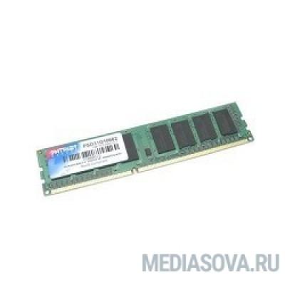 Оперативная память Patriot DDR3 DIMM 2GB PSD32G160081 (PC3-12800, 1600MHz, 1.5V)