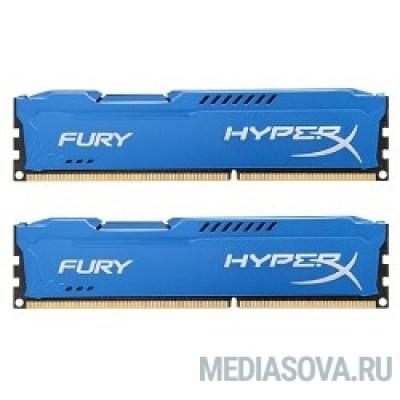 Оперативная память Kingston DDR3 DIMM 16GB (PC3-15000) 1866MHz Kit (2 x 8GB)  HX318C10FK2/16 HyperX Fury Series CL10