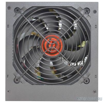 Блок питания Ginzzu CB550 12CM black,24+4p,PCI-E(6+2), 4*SATA,3*IDE,оплетка MB, кабель питания