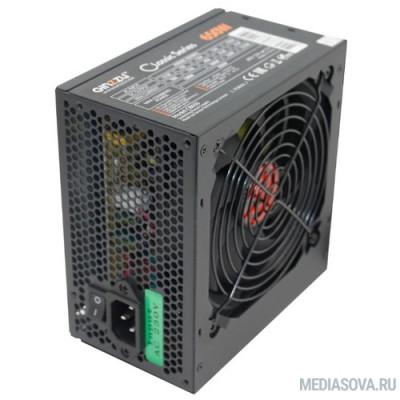 Блок питания Ginzzu CB650 12CM black,24+4p,2 PCI-E(6+2), 4*SATA, 3*IDE,оплетка MB, кабель питания