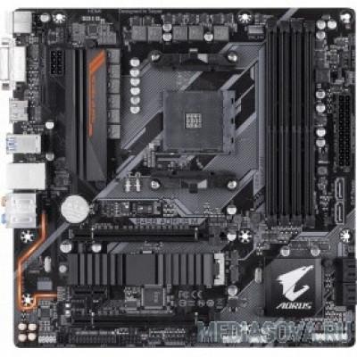 Материнская плата Gigabyte GA-B450 AORUS M RTL Socket-AM4, AMD B450, 4xDDR4, PCI-E+ 2xPCI-E 16x, 6xSATA (Raid 0/1/10)+ m.2, HD