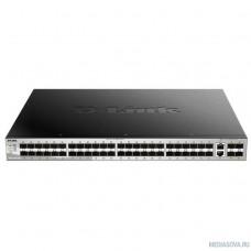 D-Link DGS-3130-54S/A1A PROJ Управляемый стекируемый1 коммутатор 3 уровня с 48 портами 1000Base-X SFP, 2 портами 10GBase-T и 4 портами 10GBase-X SFP+