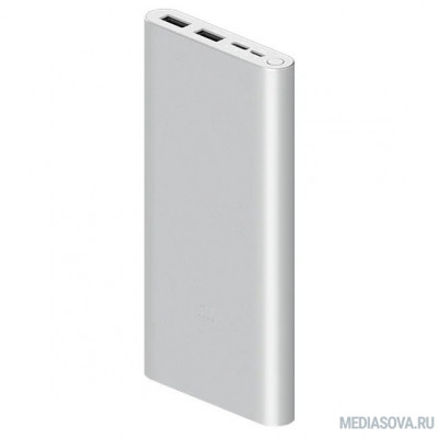 Xiaomi Mi Power Bank 3 PLM13ZM Li-Pol 10000mAh 2.4A+2.4A серебристый 2xUSB [VXN4273GL]
