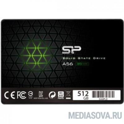 Silicon Power SSD 512Gb A56 SP512GBSS3A56A25 SATA3.0, 7mm