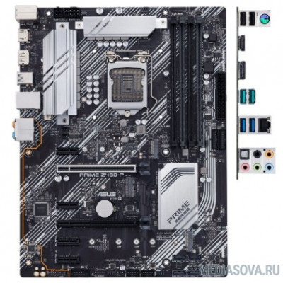 Материнская плата Материнская плата Asus PRIME Z490-P Soc-1200 Intel Z490 4xDDR4 ATX AC`97 8ch(7.1) GbLAN RAID RTL