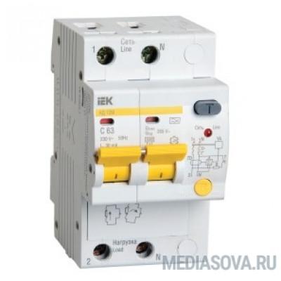 Iek MAD12-2-016-B-030 Диф.автомат АД12М 2Р B16  30мА ИЭК