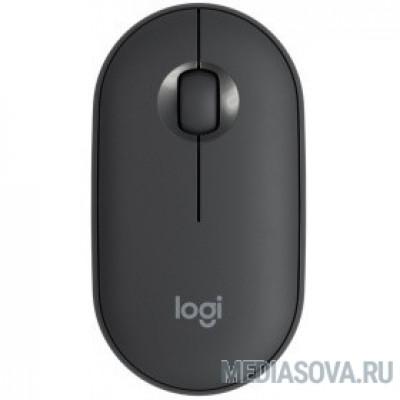 Мышь Logitech Pebble M350 графитовый оптическая (1000dpi) silent беспроводная BT USB для ноутбука (3but)