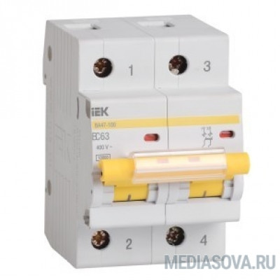 Iek MVA40-2-100-C Авт.выкл. ВА 47-100 2Р100А 10 кА  х-ка С ИЭК
