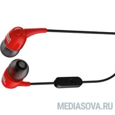 JBL T100RED красный Наушники-вкладыши