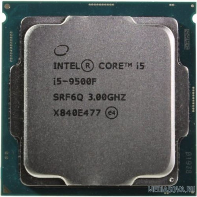 Процессор CPU Intel Core i5-9500F Coffee Lake OEM 3.0Ггц, 9МБ, Socket 1151 CM8068403875414/CM8068403362616