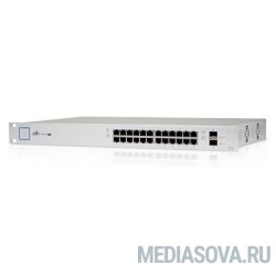 UBIQUITI US-24-250W 24 портовый коммутатор с раздачей 24 В или 48 В на всех портах, 250Вт