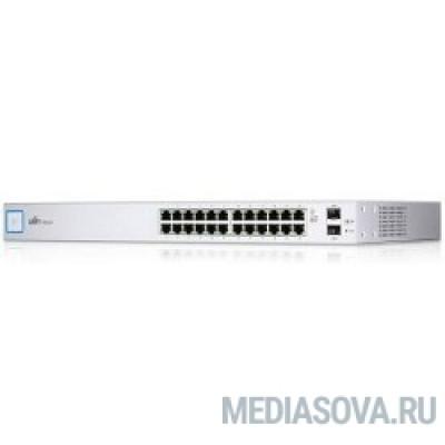 UBIQUITI US-24 UniFi Switch 24 Коммутатор в стойку, 2х SFP, 24х Gigabit Ethernet