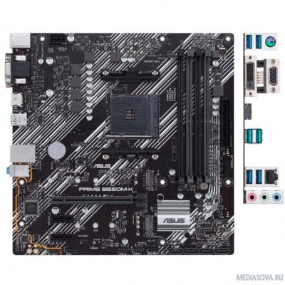 Материнская плата Материнская плата Asus PRIME B550M-K Soc-AM4 AMD B550 4xDDR4 mATX AC`97 8ch(7.1) GbLAN RAID+VGA+DVI+HDMI