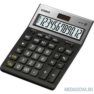 Калькулятор настольный CASIO GR-120 черный Калькулятор, 12-разрядный [1086913]