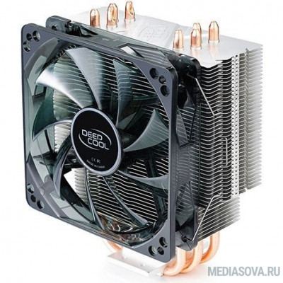 Deepcool GAMMAXX 400 BLUE BASIC Soc-FM2+/AM2+/AM3+/AM4/1150/1151/1155/ 4-pin 18-30dB Al+Cu 130W 640gr LED Ret