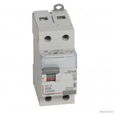 Legrand 411555 Выключатель дифференциального тока DX?-ID - 2П - 230 В~ - 40 А - тип A - 30 мА - 2 модуля