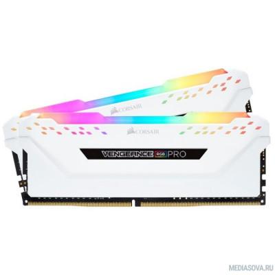Оперативная память  Corsair DDR4 DIMM 16GB Kit 2x8Gb CMW16GX4M2C3000C15W PC4-24000, 3000MHz, CL15