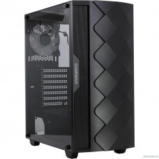 GameMax Black Diamond MFG.A361 Корпус (ATX,Черн,USB3.0,Зак.стекло,1*120мм вент+контроллер, без БП)