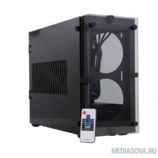 GameMax [Stratos ITX] без БП (Черн., Mini-ITX, зак.стекло,USB3.0, 2*120 вент+пульт)