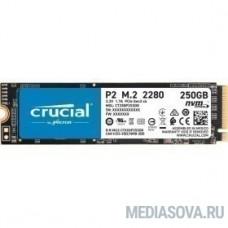 Crucial P2 SSD 250GB, M.2 (2280), PCIe Gen 3.0, NVMe, CT250P2SSD8