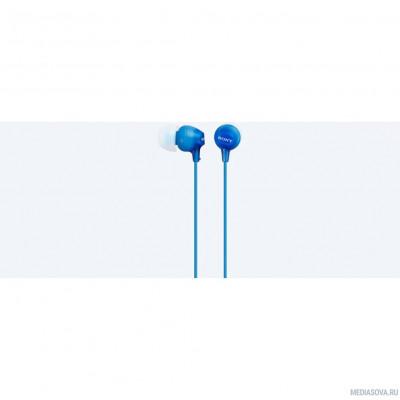 Наушники вкладыши Sony MDR-EX15LP 1.2м голубой проводные (в ушной раковине)