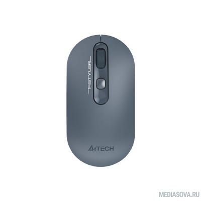 Мышь A4 Fstyler FG20 пепельный/синий оптическая (2000dpi) беспроводная USB для ноутбука (4but) 1379897