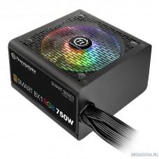 Блок питания Thermaltake SmartBX1RGB 750W <750W, (20+4+4+4) pin, 4x(6+2) pin, 8xSATA, 4xMolex, FDD, 12 см, кабель питани