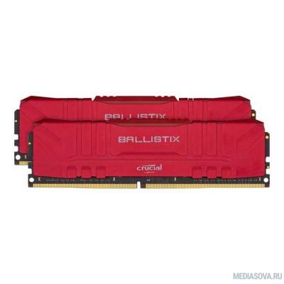 Оперативная память  Crucial DDR4 DIMM 16GB Kit 2x8Gb BL2K8G26C16U4R PC4-21300, 2666MHz, CL16, Ballistix RGB