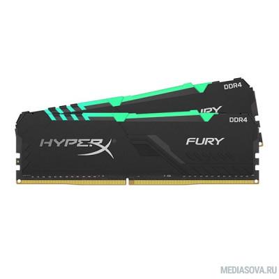 Оперативная память  Kingston DDR4 DIMM 32GB Kit 2x16Gb HX426C16FB3AK2/32 PC4-21300, 2666MHz, CL16, HyperX Fury Black