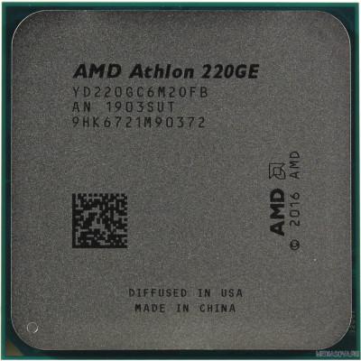 Процессор CPU AMD Athlon 220GE OEM 3.4GHz/100MHz/Radeon Vega 3