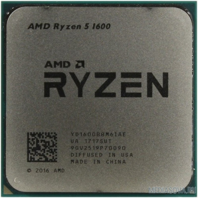 Процессор CPU AMD Ryzen 5 1600 OEM 3.2/3.6GHz Boost, 19MB, 65W, AM4 [YD1600BBM6IAF]