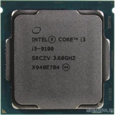 Процессор CPU Intel Core i3-9100 Coffee Lake BOX 3.60Ггц, 6МБ, Socket 1151v2