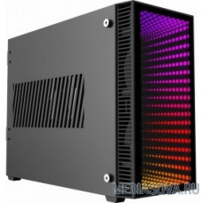 GameMax [Abyss ITX] без БП (Черн., Mini-ITX, зак.стекло,USB3.0, 2*120мм вент+пульт)