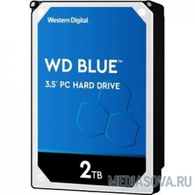 Жесткий диск 2TB WD Blue (WD20EZAZ) Serial ATA III, 5400 rpm, 254Mb buffer