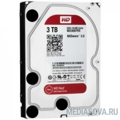 Жесткий диск 3TB WD Red (WD30EFAX) Serial ATA III, 5400- rpm, 256Mb, 3.5