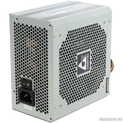 Блок питания Chieftec 500W OEM (GPC-500S) ATX 2.3, 80 PLUS, 80% эфф, Active PFC, 120mm fan