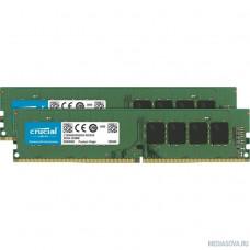 Crucial DDR4 DIMM 8Gb Kit 2x4Gb CT2K4G4DFS824A PC4-19200, 2400MHz