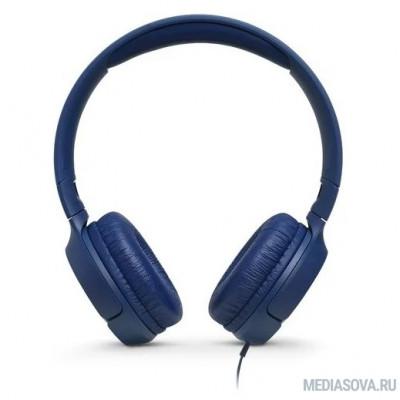 Наушники JBL Наушники накладные Т500, 32 Ом, синий [JBLT500BLU]